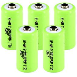 5x Exell 2/3AA NiMH 700mAh 1.2V Button top Rechargeable Batt