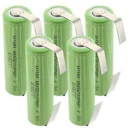 5x Exell AA Size 1.2V Rechargeable 2500mAh NiMH Batteries w/