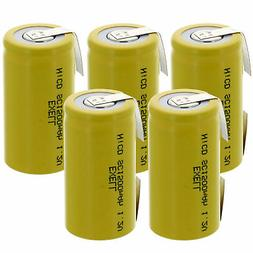5x Exell SubC 1.2V 1500mAh NiCD Rechargeable Batteries with
