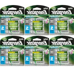6 Pack Energizer Rechargeable Power Plus AA Batteries 2300mA
