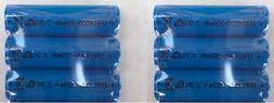 6-Pk Solar Size AA Lithium Ion  300mAH 3.2V Rechargeable Bat