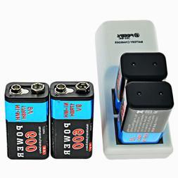 600mAh 9V 6F22 Rechargeable Ni-MH Batteries 9-Volt Battery/C