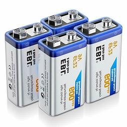 EBL 9 Volt Rechargeable Batteries Lithium ion 9V 600mAh Li-i