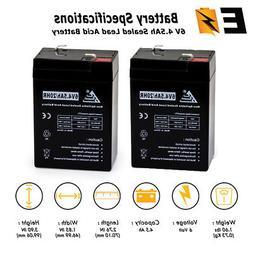 6 Volt 6v 4.5ah Rechargeable Deer Game Feeder Battery - 2 Pa