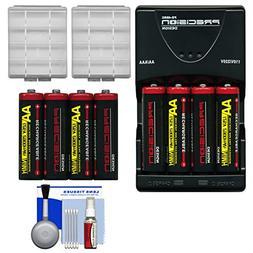 Precision Design AA 2900mAh NiMH Rechargeable Batteries & C