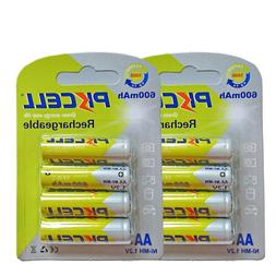 8 AA NI-MH Rechargeable Batteries 1.2V 600mAh Battery For So