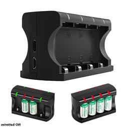 8 Bay Charger with Type-c Micro USB Port for RCR123A Li-ion