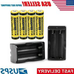 8 Pack 18650 Battery Rechargeable 3.7V Li-ion For Headlamp F