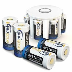 8 Pack Keenstone 3.7V 700mAh Li-ion Rechargeable RCR123A Bat