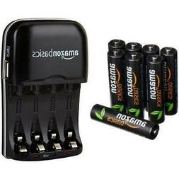 8-PACK AAA High-Capacity Rechargeable Batteries + Ni-MH AA &