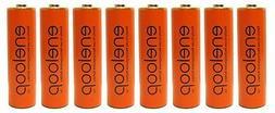 8 Pack Panasonic Eneloop AA NiMH Pre-Charged Rechargeable Ba