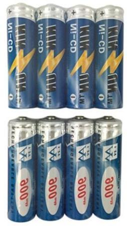 KINSUN 8-Pack Rechargeable Battery 1.2V Ni-Cd AA 900mAh For