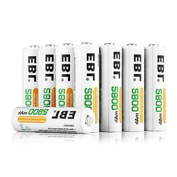 8x EBL 2800mAh AA NI-MH Rechargeable Batteries 1.2V For Came