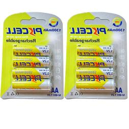 8 X AA Rechargeable Battery 1.2V 1300mAh RC Car Toys Batteri
