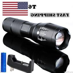 80000LM LED Tactical Flashlight Mini Rechargeable T6 LED Tor
