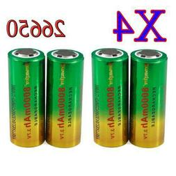 8000mAh 26650 Battery 3.7V Li-ion Rechargeable Cell Battery