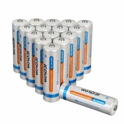 8Pack AA 2800mAh+8Pack AAA 1000mAh Batteries Ni-MH Rechargea