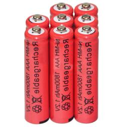 8PC 1.2V Ni-MH AAA Rechargeable Batteries for Panasonic Cord
