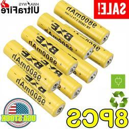 8pc 9800mAh Battery Rechargeable Li-ion High Performance 3.7