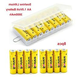 8pcs Soshine 1.5Volt AA Lithium AA High Capacity Battery For