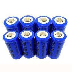 8pcs Ultrafire 16340 CR123A 3.7V 1200mAh Li-Ion Rechargeable