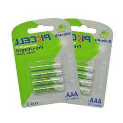 8pcs AAA  3A Triple A nimh 1.2v volt 850mAh Rechargeable Bat