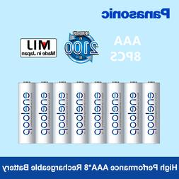 Panasonic 8pcs <font><b>aaa</b></font> <font><b>Rechargeable