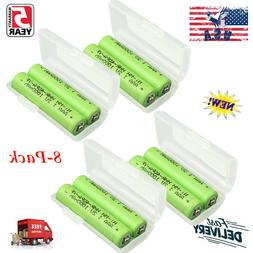 8PCS HHR-4DPA/2B Ni-MH AAA-sized Rechargeable Cordless Phone