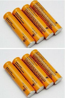 New 8 pcs 1.2V Ni-MH AAA Rechargeable Batteries for Panasoni