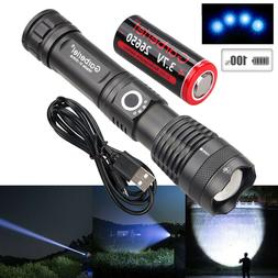 900000 Lumens Zoomable XHP50 5 Modes LED USB Rechargeable 18