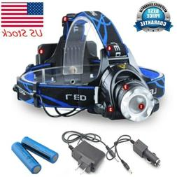 900000LM Rechargeable Headlight LED Headlamp Tactical T6 Hea