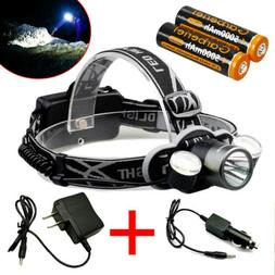90000Lumens T6 LED Headlamp Torch Headlight Rechargeable+USB