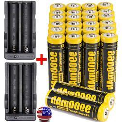 9900mAh Powerful 10Pcs 18650 Battery 3.7v Li-ion Rechargeabl