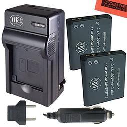 BM Premium 2-PACK of EN-EL19, ENEL19 Battery and Charger Kit