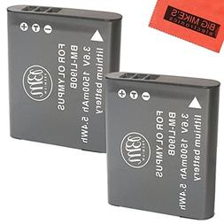 BM Premium 2-Pack Of LI-92B, LI-90B Batteries for Olympus To
