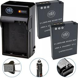 BM Premium 2-Pack of EN-EL12 Batteries & Battery Charger Kit