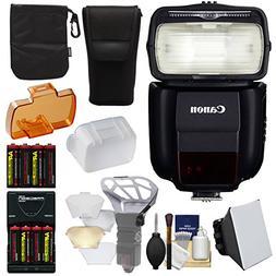 Canon Speedlite 430EX III-RT Flash + Soft Box + Diffuser + B