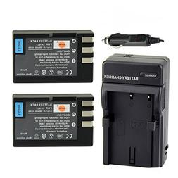 DSTE 2x EN-EL9 Battery + DC15 Travel and Car Charger Adapter