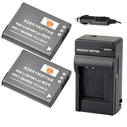 DSTE 2x Li-90B Replacement Li-ion Battery + DC16 Travel and
