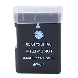 DSTE EN-EL14 Replacement Li-ion Battery for Nikon D5100 D520