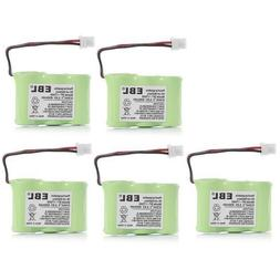 EBL 5 Packs Replacement Cordless Phone Battery 600mAh 3.6V f