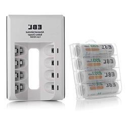 EBL AA AAA Ni-MH Ni-CD Individual Smart Battery Charger with