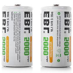EBL C Size C Cell 5000mAh Ni-MH Rechargeable Batteries, Pack