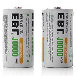 EBL D Size Rechargeable Batteries D Cell 10000mah NiMH Batte
