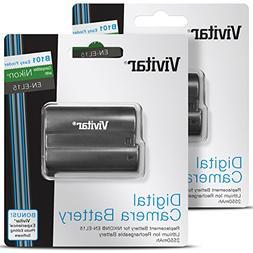 EN-EL15 Vivitar Battery Set for Nikon D850, D810, D800, D750