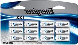 El123bp12 3v Energizer Lithium 123 Photo Batteries 12/Pk
