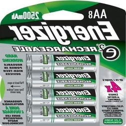 Energizer - AA Rechargeable NiMH Battery Retail Pack, 2500mA