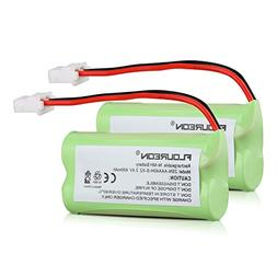 FLOUREON 2-Pack 2.4V 400mAh Ni-MH Rechargeable Replacement B