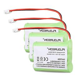 Floureon 3 Packs Rechargeable Cordless Phone Battery for V-T