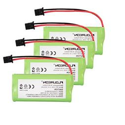 Floureon 4 Packs 2.4V 900mAh Rechargeable Cordless Phone Te